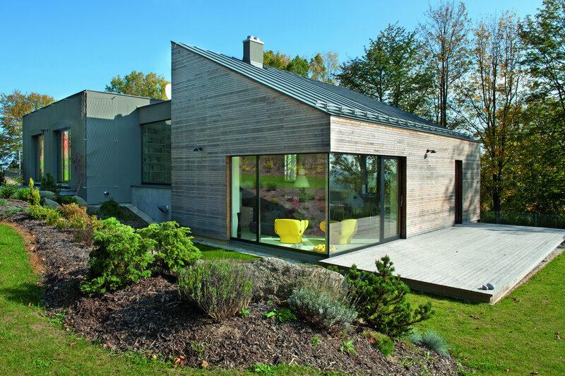 Pasivní dům s prosklenou plochou