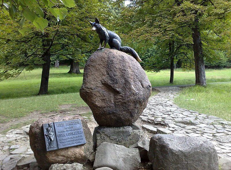 Památka Liška Bystrouška v Hukvaldech