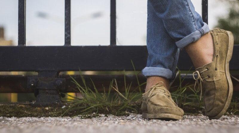 Kožené boty a džiny